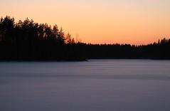 Sun-set at 16.16 o`clock (irio.jyske) Tags: sun sunset afternoon winter snow pond lake ice sigma nice canon
