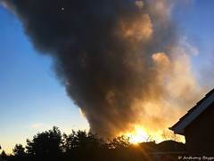 Blazing sunrise (Explore) (Tony Beyga) Tags: prescotbusinesspark fire
