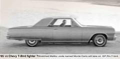 "1964 Motorland Magazine ""sneak preview""of 1965 1/2 Monte Carlo (HarborIndiana) Tags: chevrolet gm riviera spyshot malibu montecarlo chevy tbird sneak spyphoto chevymontecarlo"