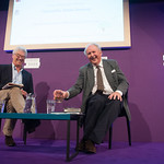 Alexander McCall Smith with his Chair Jamie Jauncey