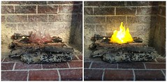 11. Final Fire - Off and On  - Tutorial 6 (Foxy Belle) Tags: camp scale fire miniature diy fireplace candle flames how 112 tutorial votive dollhouse