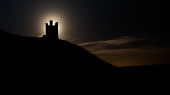 Moonlit tower. (Squareburn) Tags: castle silhouette night shadows dunstanburghcastle lilburntower silhouettephotography samyang14mm