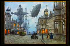 postcard - from NRichey, Russia (Jassy-50) Tags: street art artwork russia postcard victorian postcrossing fantasy blimp airship steampunk vadimvoitekhovich