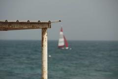 2015-09-04_08-28-21 (Oak KWT) Tags: sea water sail kuwait الكويت كويت بحر شراع