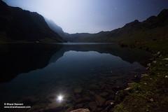 Lake Tarsar in moonlight, Jammu & Kashmir (Bharat Baswani) Tags: moon lake mountains reflection water trekking stars landscape high altitude astro moonlit moonlight kashmir himalayas bharat jammu glacial marsar baswani tarsar