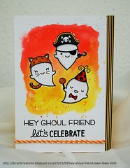 Hey Ghoul Friend | Lawn Fawn (Lisa/B) Tags: masking booyah distressinks celebrationcard lawnfawn