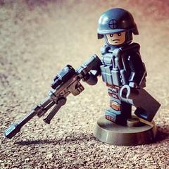 Delta sniper. (Keaton FillyDing) Tags: brick army lego delta seal sniper figure vest minifig custom pvc proto minifigure moc 2015 brickcon brickarms overmold citizenbrick eclipsegraphix