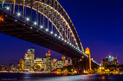 Sydney Harbour Bridge at night-  Diego Bacar 2015 (diegobacar1) Tags: bridge blue water architecture night landscape lights opera exposure harbour sydney australia newsouthwales operahouse darling diegobacar