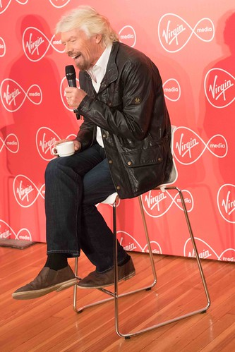 RICHARD BRANSON INTRODUCES VIRGIN MEDIA TO THE PRESS [1st. October 2015] REF-10858511