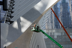 World Trade Center (Terese Loeb) Tags: newyorkcity newyork construction manhattan worldtradecenter lowermanhattan santiagocalatrava workman fultontransithub