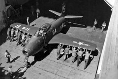 VF-5A FJ-1 Fury BuNo 128363, S-114 (skyhawkpc) Tags: 1948 airplane aircraft aviation navy naval usnavy usn fury northamerican ussboxer fj1 s114 128363 cva21 vf5ascreamingeagles