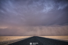 Kuwait - Path To The Haboob Storm (Sarah Al-Sayegh Photography | www.salsayegh.com) Tags: sunset nature weather canon photography kuwait dust duststorm landscapephotography haboob stormchase leefilters canoneos5dmarkiii wwwsalsayeghcom sarahhalsayeghphotography infosalsayeghcom