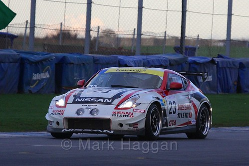 The Nissan 370Z GT4 of Romain Sarazin and Matthew Simmons in Britcar Racing during the BRSCC Winter Raceday, Donington, 7th November 2015