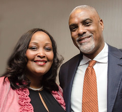 Dr. Darryl C. Ford (recipient of our Leonard C. Ferguson Youth Advocate Award, 2015) with his wife, Gail Sullivan Ford