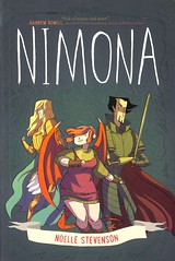 Nimona (Vernon Barford School Library) Tags: new school fiction reading book high graphic good library libraries reads evil books science read paperback stevenson fantasy cover junior novel covers sciencefiction graphicnovel bookcover middle noelle youngadult vernon ya recent bookcovers paperbacks graphicnovels shapeshifter novels fictional youngadultfiction goodandevil shapeshifters barford softcover shapeshifting fantasyfiction vernonbarford softcovers noellestevenson 9780062278227 nimoa