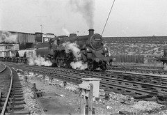 Skipton Minerals (4486Merlin) Tags: england bw europe unitedkingdom transport steam northeast railways northyorkshire skipton gbr goodstrain 75042 exbr brstd4mt460