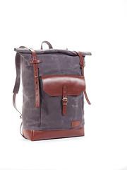 Purple grey waxed canvas backpack (Sergey Kutsenko) Tags: leather handmade burgundy ukraine canvas backpack bags ua mukachevo purplegrey innesbags kudryart canvasleatherbackpack canvasbakpack wineburgundyleather