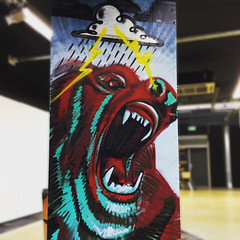 angry-bear (The Klash) Tags: streetart graffiti urbanart angry spraypaint ironlak urbanartstudio