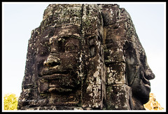 Angkor Thom - the faces (calamur) Tags: sculpture stone architecture cambodia buddha buddhist siemreap buddhisttemple angkorthom harinicalamur nikond7000