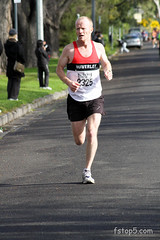 The finishing straight, less than 100m to go. (Steven Taylor (Aust)) Tags: sport running 2325 burnleyhalfmarathon