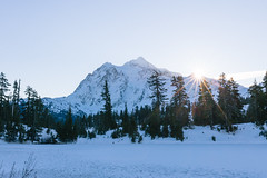 Daybreak (torrey_merritt) Tags: morning trees snow mountains sunrise washington pacific northwest cascades