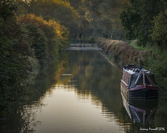 Along the Kennet & Avon Canal (Explored 09/102016) (zolaczakl ( 2 million views, thanks everyone)) Tags: canal thekennetavoncanal reflections barge october 2016 photographybyjeremyfennell nikond7100 nikonafsnikkor24120mmf4gedvrlens earlymorninglight uk england berkshire wiltshire greatbedwyn hungerford towpath