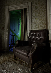 The Living Room (Devon OpdenDries) Tags: decay house old rotting urbanexploration nightphotography lightpainting longexposure canon 5d mkii abandoned creepy