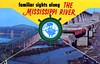 Familiar Sights along the Mississippi River (Edge and corner wear) Tags: vintage postcard pc new orleans louisiana la compilation batch wheel dam barge ship bridges dams mighty