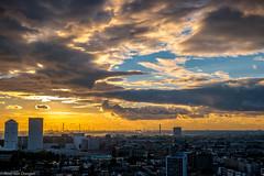 Sun and clouds over Rotterdam (Peter van Dongen) Tags: rotterdam waterstadtoren harbour samsungnx1650mmf228 flickrelite