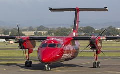 OY-GRG Air Greenland Dehavilland Bombarider Dash 8 Q200 @ Exeter Airport, Devon. (Sw Aviation) Tags: oygrg air greenland dehavilland bombarider dash 8 q200 exeter airporr devon