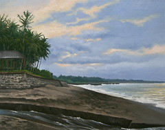 Cemagi Beach, Sunset (luis_colan) Tags: painting oilpainting landscape beach indonesia bali sunset pleinair luiscolan