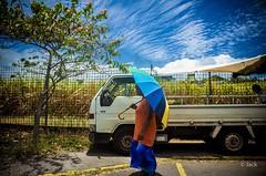 (Jack_from_Paris) Tags: r0001691 ricoh gr apsc capture nx2 lr colors guadeloupe gwada antilles françaises couleurs de rue soleil sun ombre route road rhum boulogne parapluie parasol