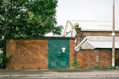 Barr Street - 1467 (Peter.Bartlett) Tags: vsco olympusomdem1 unitedkingdom facade urbanarte weeds westyorkshire colour peterbartlett urban uk m43 microfourthirds wall fuji160semulation kirklees huddersfield lunaphoto sign door england gb