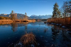 Bavarian Lake (wende60) Tags: mountains lake frozen barmsee bavaria germany alps outdoor hike evening light ice nature ngc