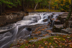 Quartzite Falls (eahackne) Tags: waterfall fall autumn color quartzitefalls upperpeninsula slateriver