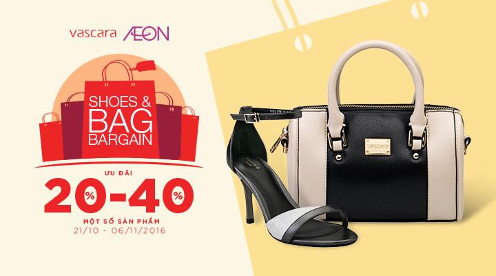 Vascara Aeon Mall Bình Tân – Shoes & Bag Bargain - Ưu đãi 20-40% một số sản phẩm