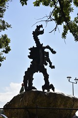 Dragon Statue at Wawel: silhouette (SpirosK photography) Tags: krakow poland   dragon statue sculpture silhouette