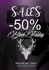 PHEDORA BLACK FRIDAY SALES (Celena Galli ~ phedora.) Tags: sl secondlife blackfriday black friday mesh slocca slink belleza maitreya shoes clothes fashion phedora