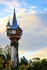 Tangled Toilets (jordanhall81) Tags: tangled tower rapunzel fantasyland magic kingdom mk walt disney world wdw resort theme park orlando florida lake buena vista lbv vacation holiday sky sunset golden hour