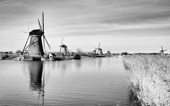 Six windmills in Kinderdijk (Roland B43) Tags: kinderdijk windmills vintagelens pentax28mm20 wow