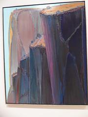 Wayne Thiebaud - Canyon Mountains (c_nilsen) Tags: sanfrancisco california digital digitalphoto sanfranciscomuseumofmodernart museum art painting waynethiebaud