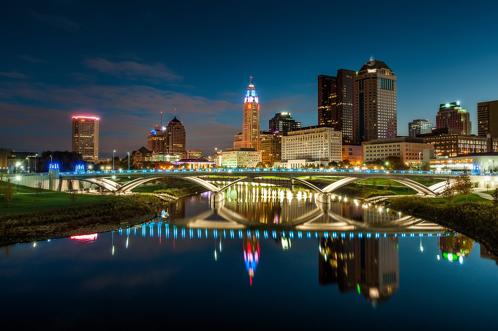 A view of Downtown Columbus from the Main Street Bridge.