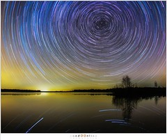 sized_NH20161125-211050 (nandOOnline) Tags: water startrail landschap reindersmeer reflectie maasduinen ster sterrensporen poolster sterren dark star polaris reflection evening donker nacht night landscape well limburg nederland
