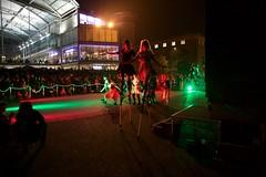 Let's dance! (Rockallpub) Tags: halloween forum dark light norwich dance stilts thriller