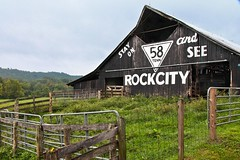 Feels So Good to Be Back Home Again.... (~ Cindy~) Tags: gates fence post highway 58 scenery hff fences rural june 2016 barn rock city country county meigs