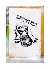 Street Art (RIP), East London, England. (Joseph O'Malley64) Tags: rip streetart urbanart graffiti eastlondon eastend london england uk britain british greatbritain art artist artistry artwork stencil stencilwork mixedmedia wall walls pavement brickwork pointing render urban urbanlandscape aerosol cans spray paint