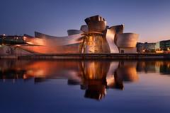 Guggenheim Bilbao (Ivn F.) Tags: nikon nikonespaa tamron 1530 d800e long exposure water reflection sunset sundown billbao bizkaia spain europe travel guggenheim cityscape urban street explore explorer exploration