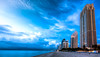 In Sunny Isles Beach (The Sergeant AGS (A city guy)) Tags: sunnyisles miamifl beachscape beach architecture lateafternoon blue shore seashore skies clouds walking waterways exploration