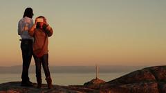 Sunset at Finisterra Lighthouse (André Felipe Carvalho) Tags: sunset pordosol pôrdosol finisterra caminho camino santiago fisterra couple casal iphone android samsung
