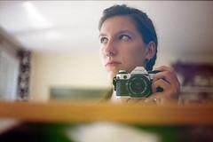 film (La fille renne) Tags: film analog 35mm woman lafillerenne canonae1program 50mmf18 alterlogue alterloguenebula35 portrait selfportrait mirror home